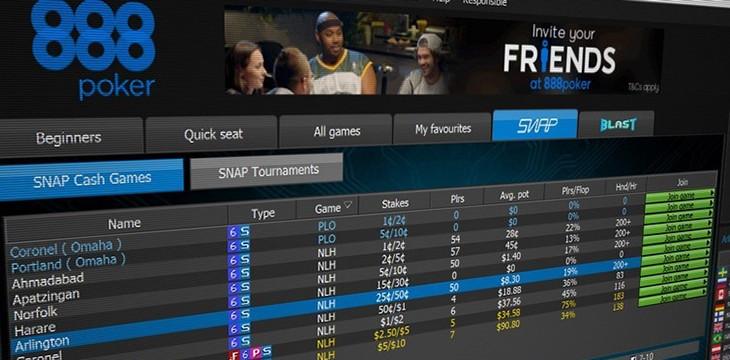 888 Покер платформа для покера